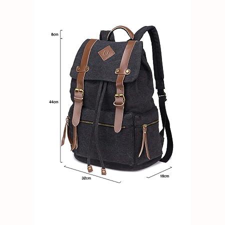 d3eba75660d8 Amazon.com: XHCBOOK Vintage Canvas Backpacks Mens Rucksack Unisex ...