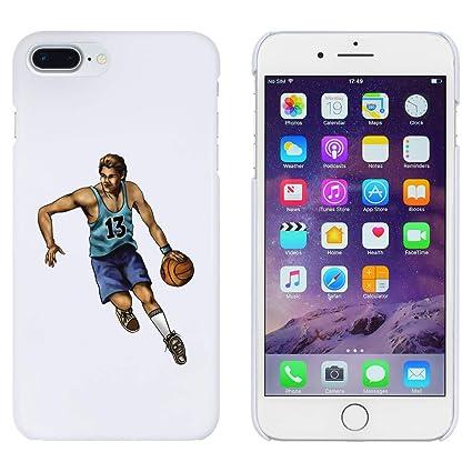 Azeeda Blanco Jugador de Baloncesto Funda para iPhone 7 Plus ...