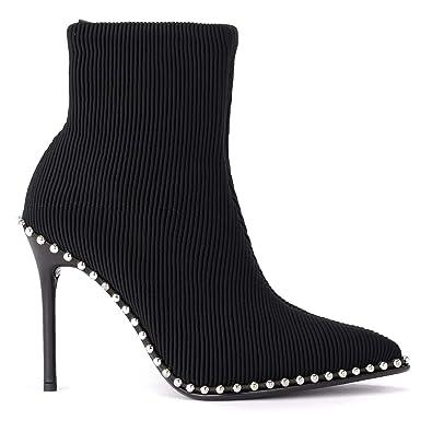 Style classique styles classiques chaussures de séparation Alexander Wang Bottines Modèle Eri en Tissu Noir avec des ...