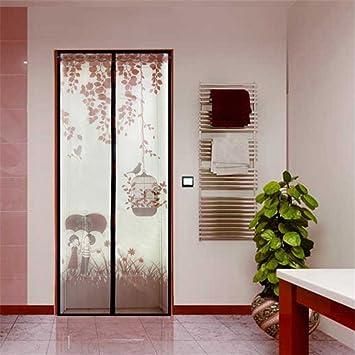 Vogel Bauer Mosquitera magnético cortina Mosquitera para puerta corredera de puerta para balcón Terrazas Puerta 90 x 210 cm, Marrón: Amazon.es: Bricolaje y herramientas