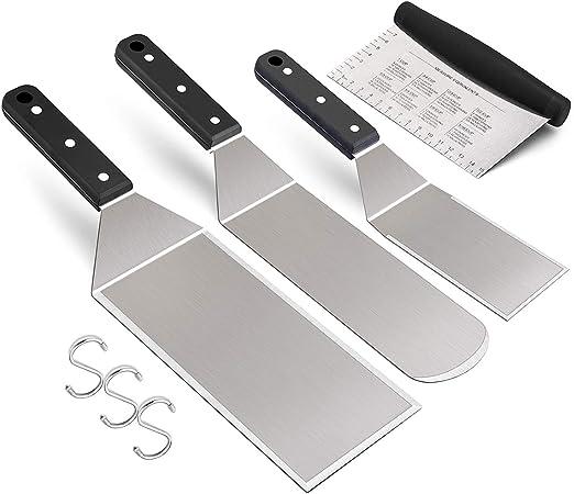 Amazon.com: Leonyo - Juego de 4 espátulas metálicas de acero ...