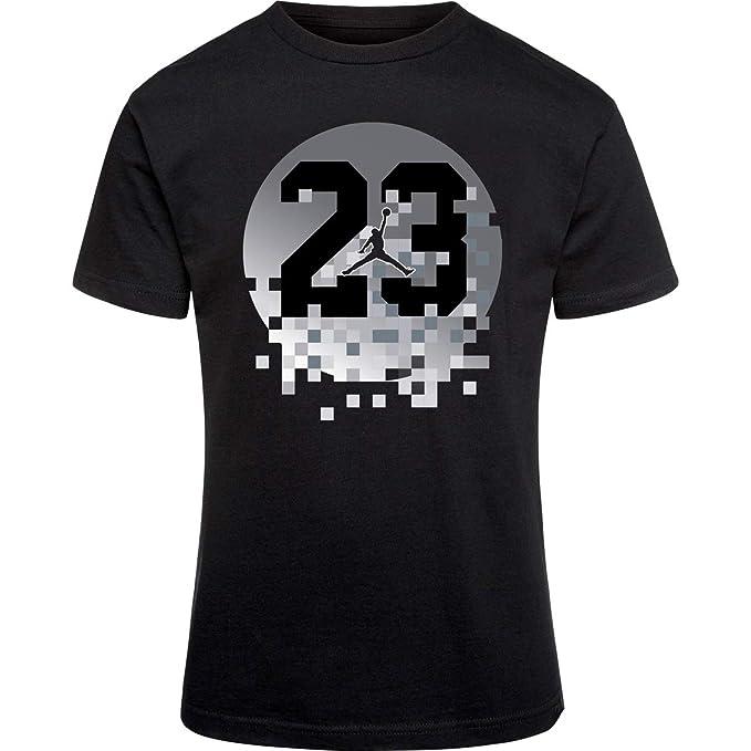 5cbbed829bfc00 Amazon.com  Nike Air Jordan Boys  23 Pixel T-Shirt  Clothing