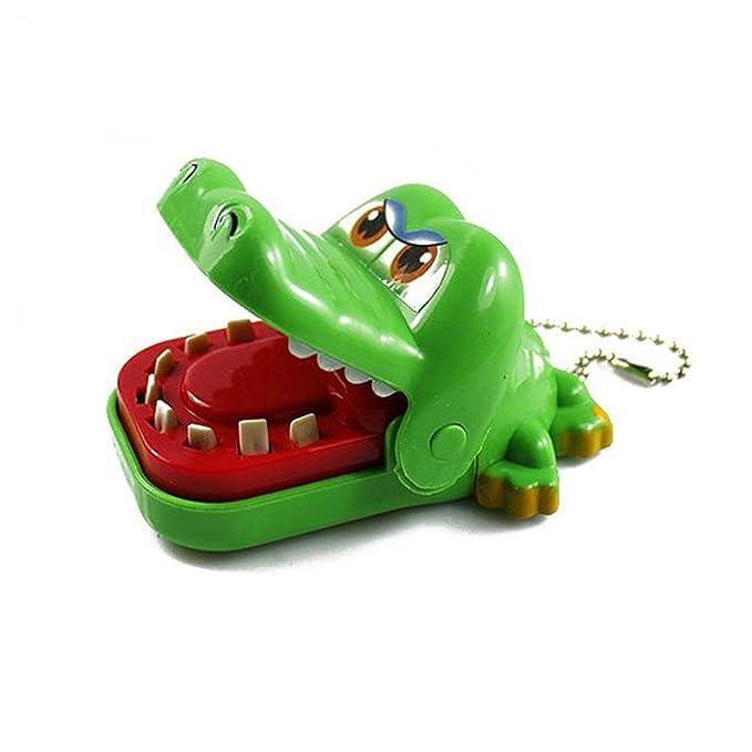 Juguete - SODIAL(R)(Color Aleatorio) Juguete de cocodrilo dentista con llavero