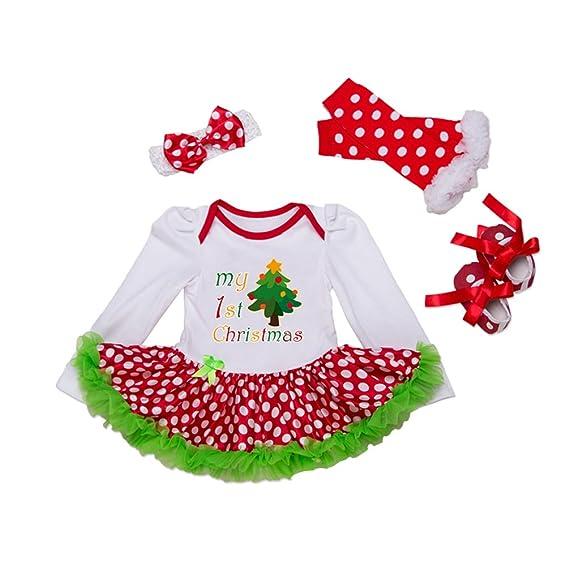 Anguang Vestiti di Babbo Natale di costume dei pagliaccetti della Neonata di  si regolano Vestito  Amazon.it  Abbigliamento 42ec2d427d0