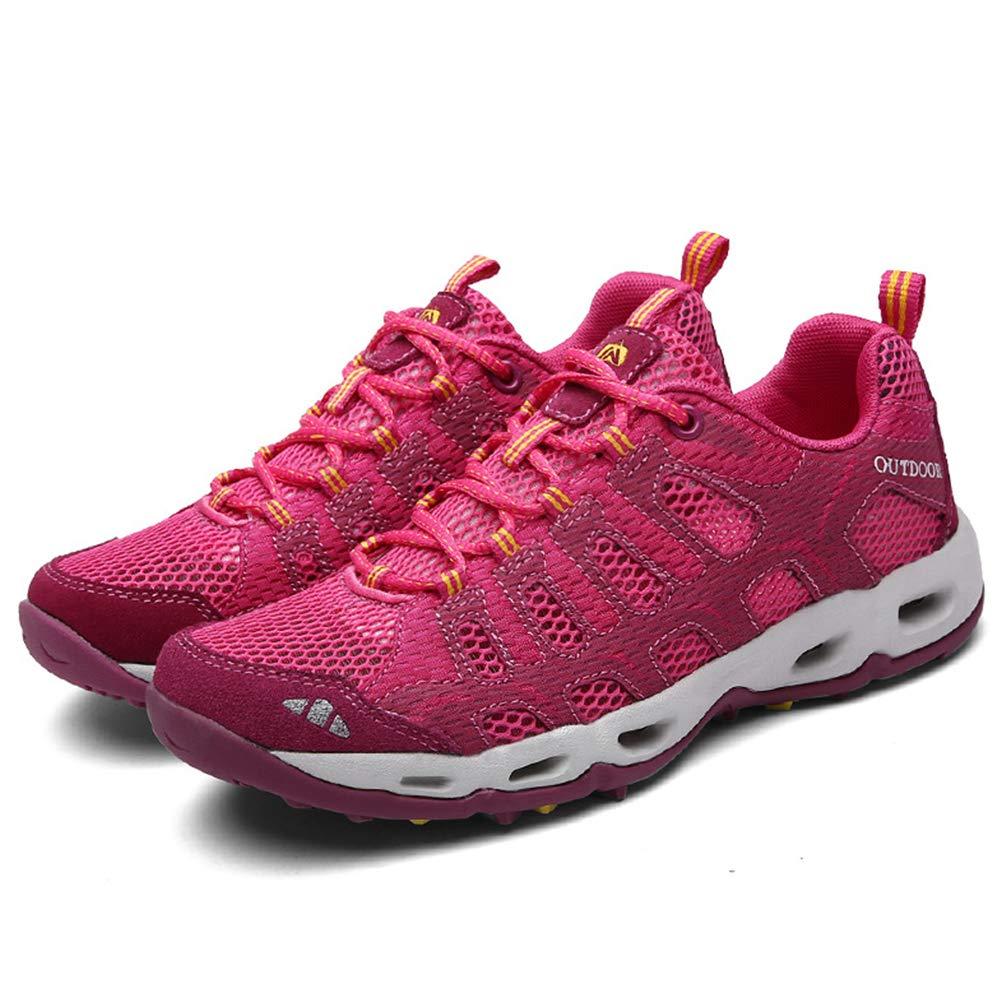 rouge  Chaussures de randonnée Unisexes Chaussures de Marche imperméables Chaussures de Marche pour Hommes avec Chaussures de randonnée pour Sports de Plein air Semelle antidérapante