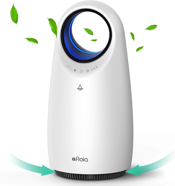 Afloia - Purificador de aire portátil con filtro de carbón activo para casa, oficina, dormitorio