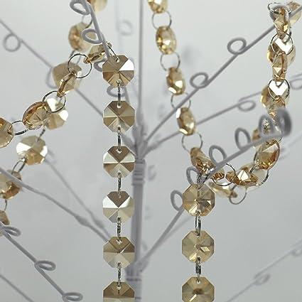 Amazon.com: Cadena de gusnilo vidrio candelabro de vidrio ...