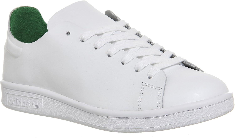 adidas - Zapatillas de Piel para Hombre Blanco White White Green: adidas Originals: Amazon.es: Zapatos y complementos