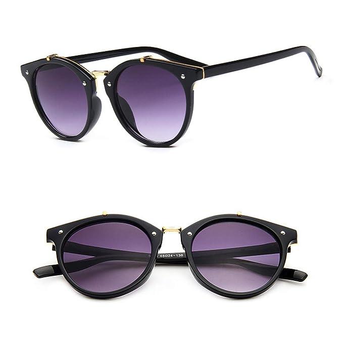 Amazon.com: Gafas de sol de metal para mujer, estilo retro ...