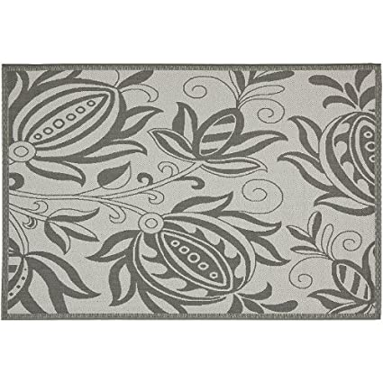 Amazon Com Safavieh Courtyard Floral Indoor Outdoor Patio Rug 5 3