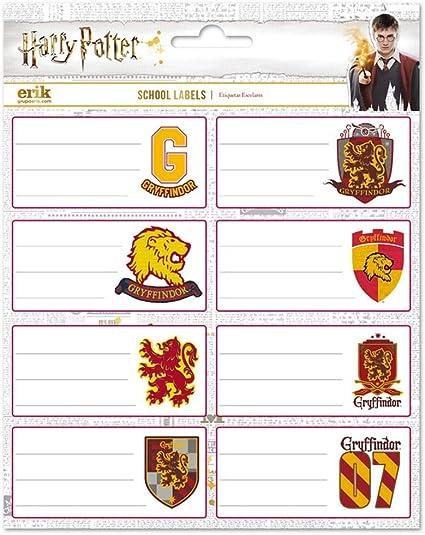 Harry Potter Pack 16 Etiqueta 8x4cm: Amazon.es: Oficina y papelería