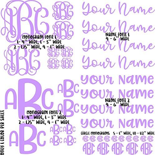 - 39 Piece Adhesive Monogram / Name Vinyl Decal Sheet Set