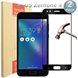 [2 Pack] ASUS ZenFone 4 ZE554KL Screen Protector, PULEN 0.3MM Slim And 9H Hardness Tempered Glass [Anti-Scratch] [Bubble Free] Extreme Hardness for ASUS ZenFone 4 ZE554KL (black)