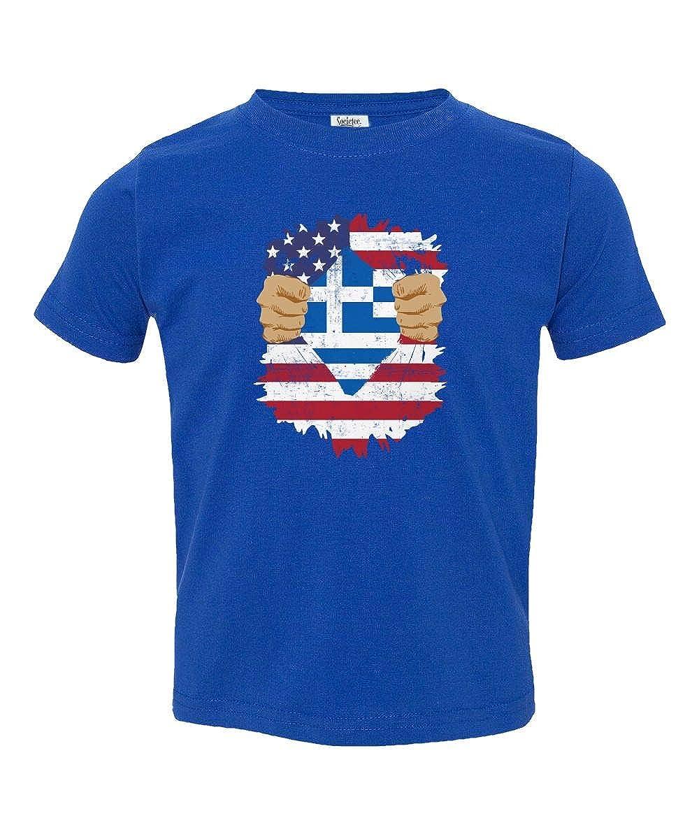 Societee Greek American USA Greece Pride Flag Youth /& Toddler Tee Shirt