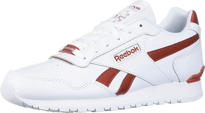 Reebok Mens Classic Harman Run Sneaker White/Mason Red 10.5 M US