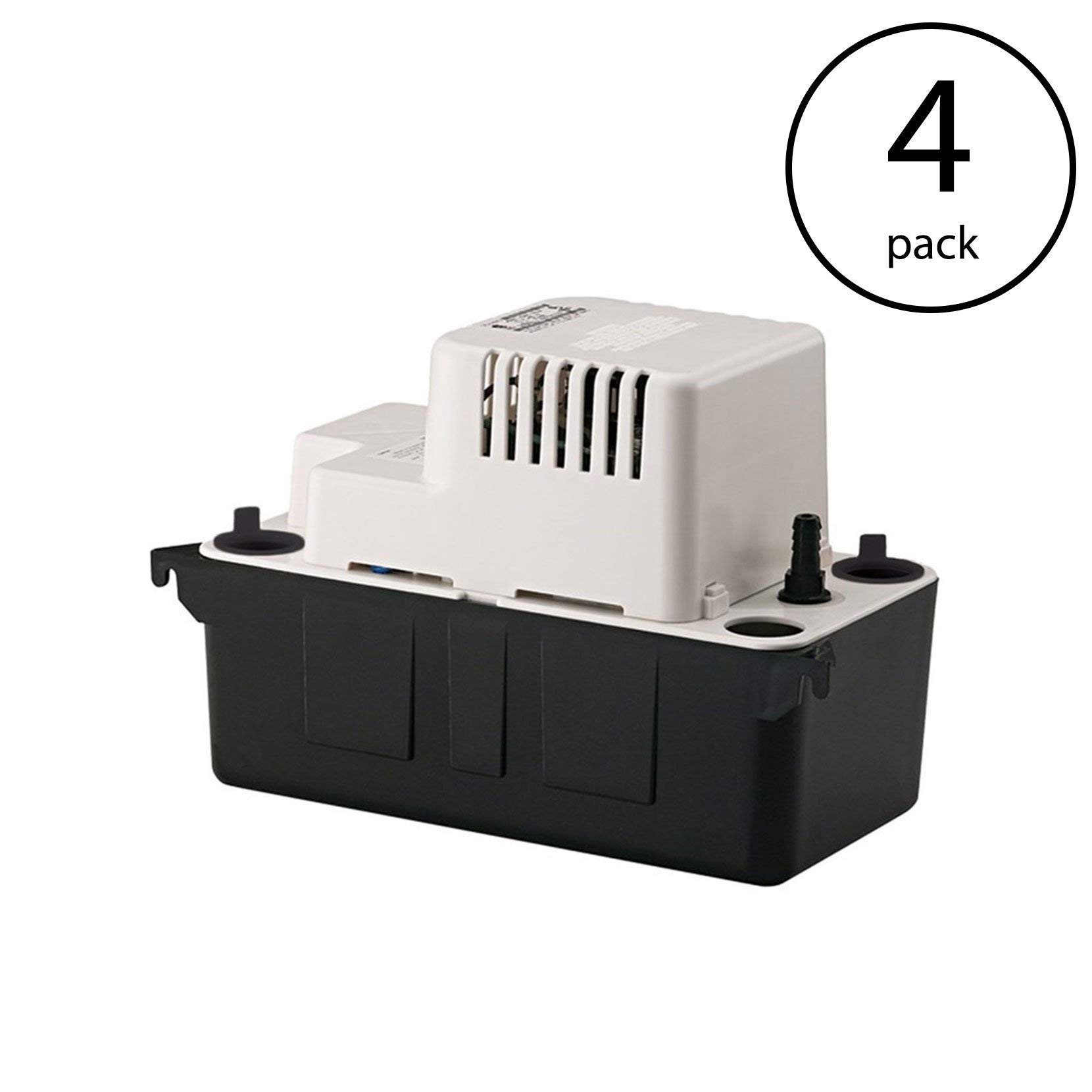 Little Giant VCMA-Series 1/50 HP 1/2 Gallon Tank Condensate Removal Pump(4 Pack)