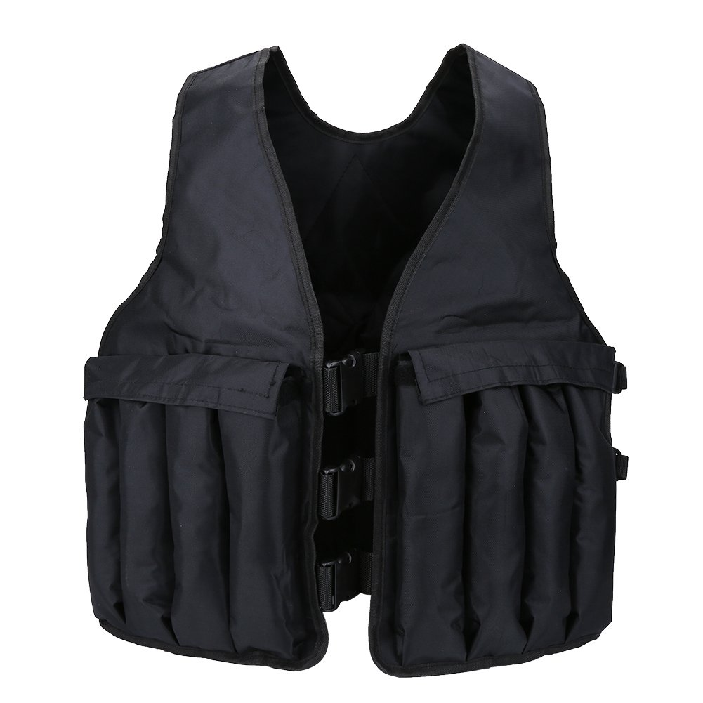 VGEBY 44lbs Adjustable Weighted Vest for Running, Workout, Crossfit, Cardio, Walking