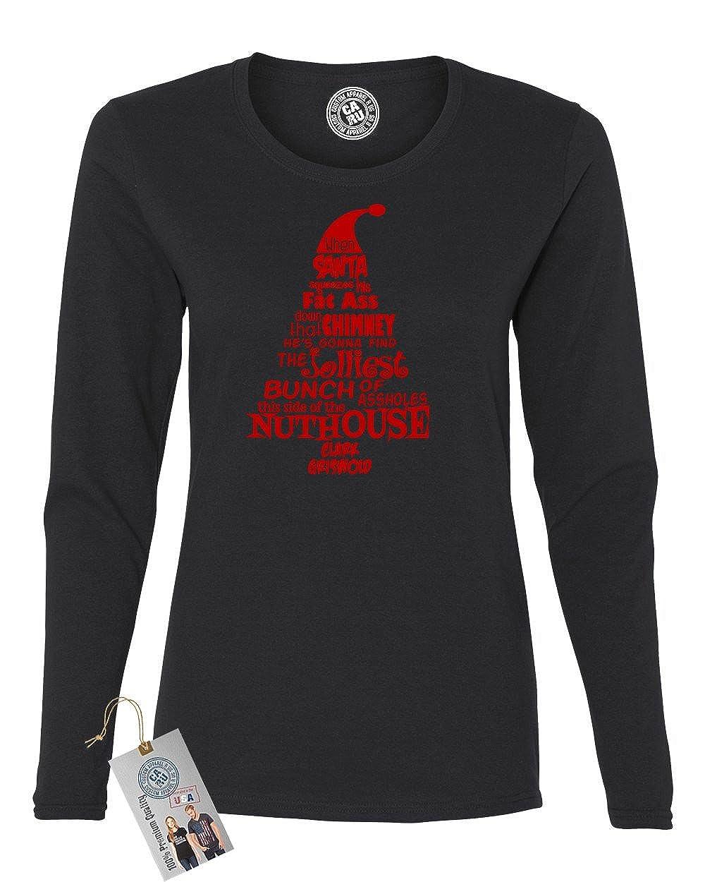 Custom Apparel R Us Christmas Vacation Nuthouse Women Long Sleeve