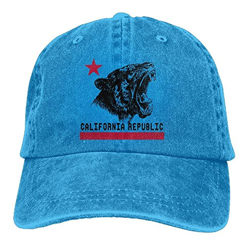 LETI LISW Flag of CaliforniaClassicDenim Cap Adult Unisex Adjustable Hat by LETI LISW