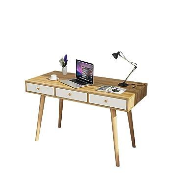 NUYAN Mesas Escritorios, Mesa de Oficina, cajón de Almacenamiento ...