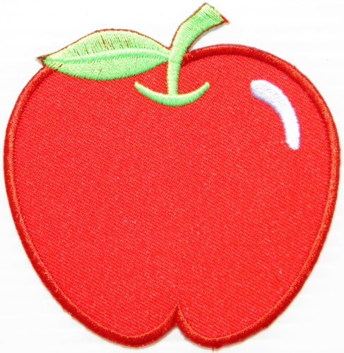 Red Apple Logo Snow White Hippie Retro Kid Baby Jacket T-shirt Patch Sew Iron on Embroidered Sign Badge Costume (Snow White Apple Bag)