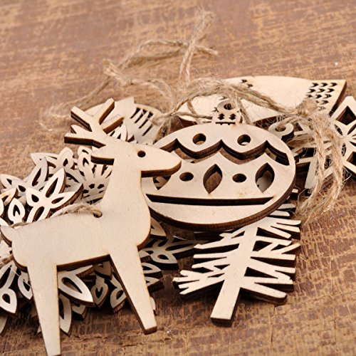 Ezakka Wooden Ornaments Hanging Embellishments Crafts Hanging