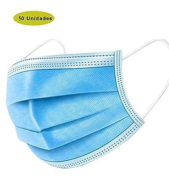 Disposable Three Layer Spray cloth Respirator face m***as***k blue -300pcs: Amazon.es: Industria, empresas y ciencia