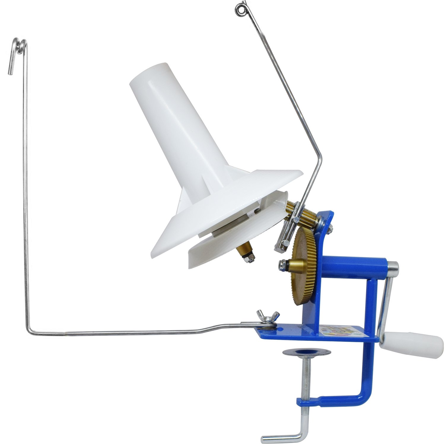 Large Yarn Ball Winder, Jumbo Metal Fiber/Wool/String Ball Winder Hand Operated Capacity 10-Ounce Veliis 4336905463