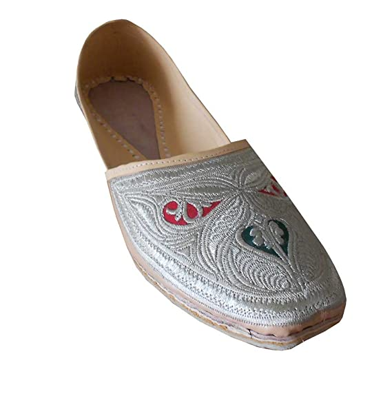 Men's Traditional Indian Faux Leather With Embroidery Casual Shoes