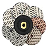 4 Inch Dry Diamond Polishing Pads with Backer Pad for Marble Granite Concrete Stone Surface Edge Polishing