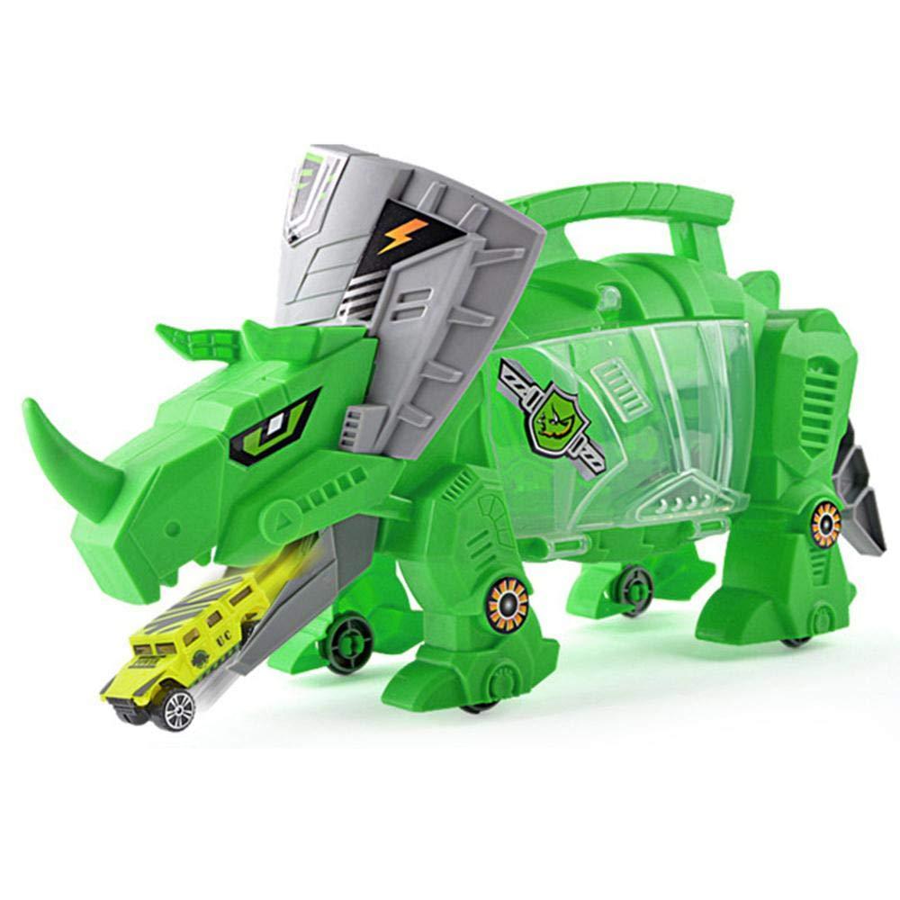 ... Portátil Dinosaurio Almacenamiento Carrier Integrado Vehículo con 6 Mini Simulación Dinosaurio & 4 Car Aircraft Jurassic World Juguetes Set para Niños ...