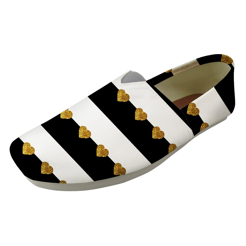Sannovo Black White Slip on Soft Loafer Lazy Casual Flat Shoe for Women Moccasin