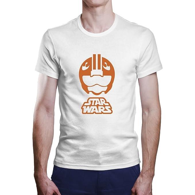 Camiseta Star Wars. Una Camiseta de Hombre de Star Wars Casco piloto. Camiseta Friki