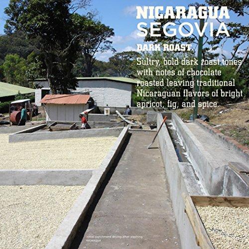 Tiny Footprint Coffee Organic Fair Trade Nicaragua Segovia Dark Roast Whole Bean, 3 Pound