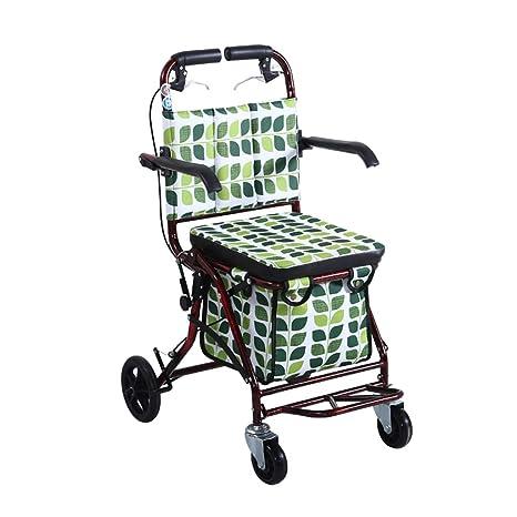 GTT Carro de Arranque Plegable Carro de Compras para el hogar para Ancianos, los Asientos