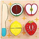 Pairka Taglio delle Verdure di Frutta del Giocattolo del Bordo di Legno della Cucina di Puzzle dei Bambini Stile 1