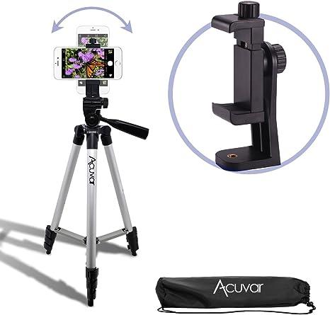 ecostconnection 50 Inch Trípode de cámara de aluminio + trípode ...