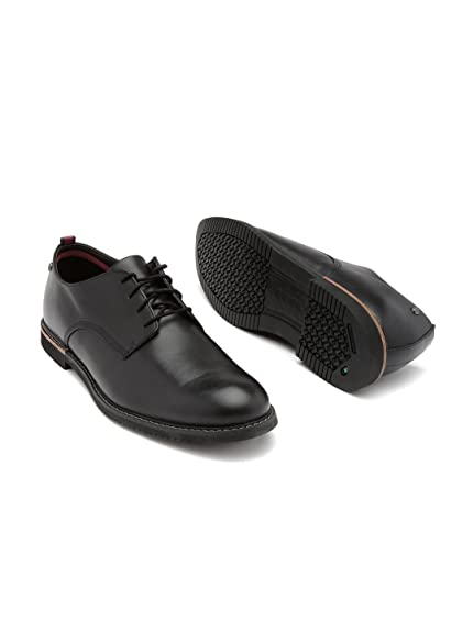 5fd93fa780 Timberland Men Black Leather Derby Formal Shoes (11.5UK): Buy Online ...