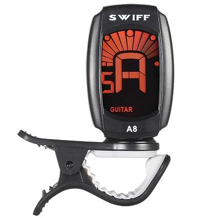 Ammoon - Afinador digital automático con pantalla LCD hasta A8, formato mini con