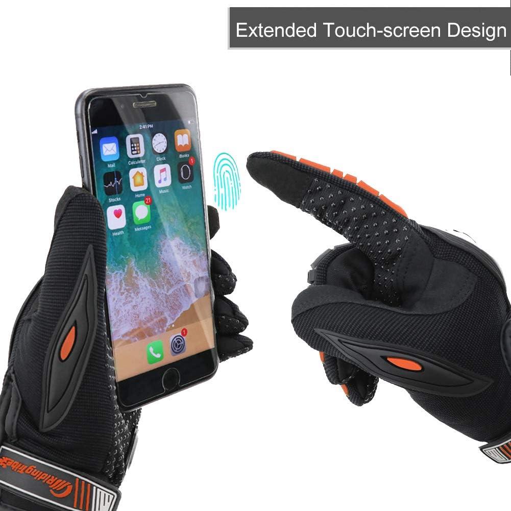 ARTOP Motorradhandschuhe Sommer Touch Screen Herren Damen Vollfinger Motorrad Motorcross Handschuhe M/änner Orange, XXL