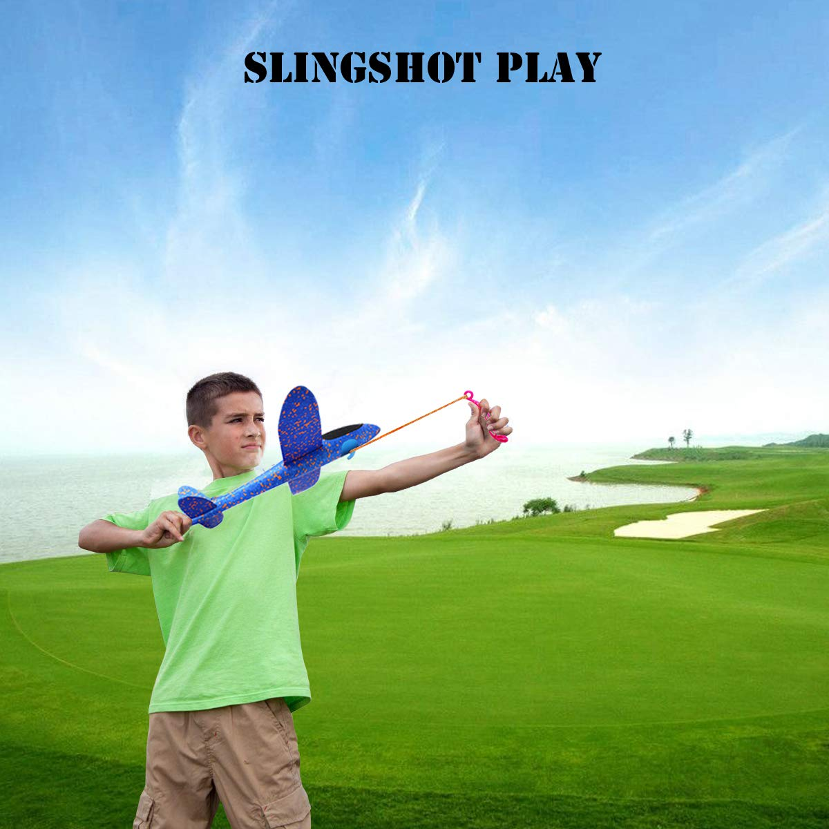 MIMIDOU 4 Pcs Catapult Slingshot Plane 2 Flight Mode Glider Airplane 2 Ways to Play Outdoor Flying Toy for Kids as Gift. by MIMIDOU (Image #7)