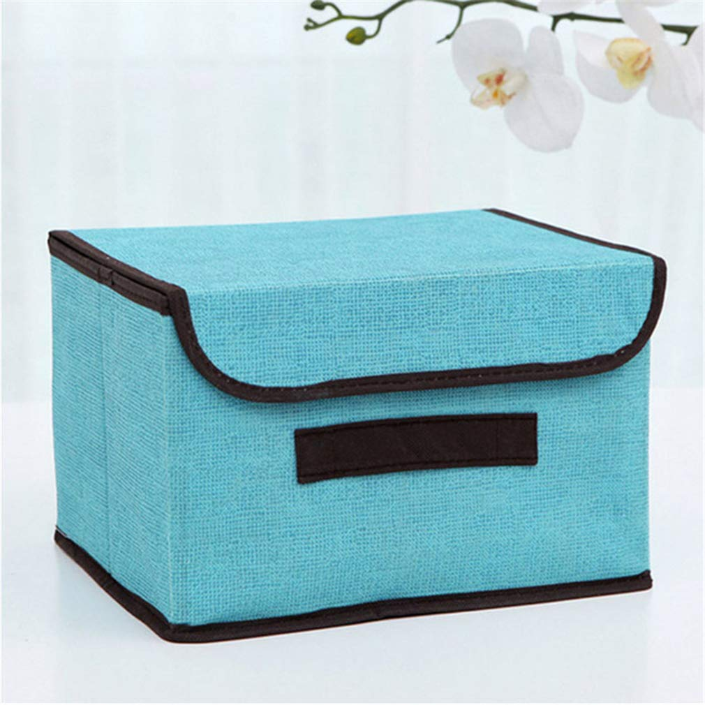 VADOLY Household Storage Have Lid Multifunction Foldable Covered Box Organizer Clothing Underwear Finishing Wardrobe Container
