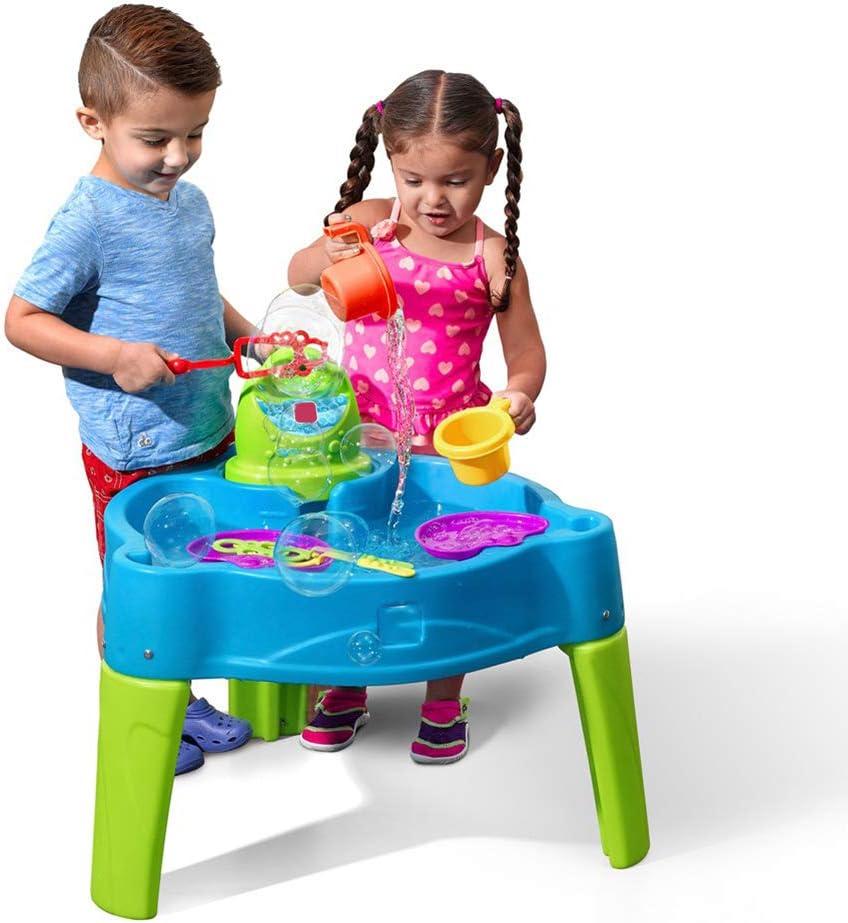 FSGD Plataforma de Agua de Burbujas con soplador Juego de Mesa de Playa para niños Juego de Mesa de Piscina de Arena, Agua y Arena Juego para niños Verano: Amazon.es: Hogar