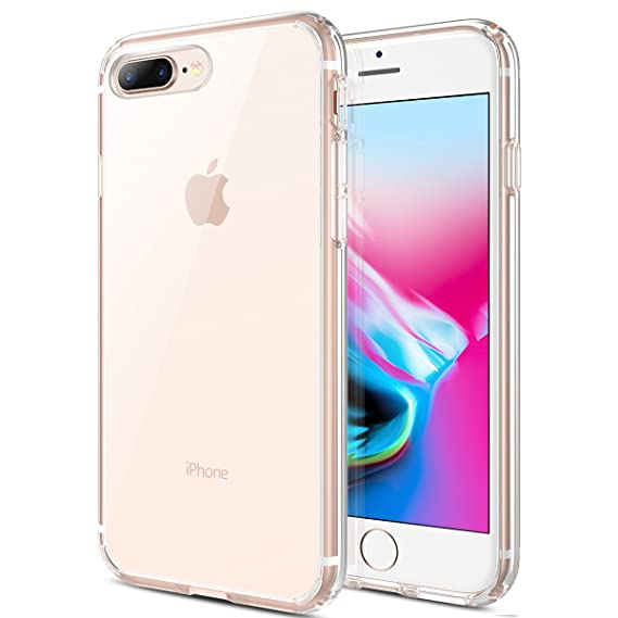 cheap for discount 23ced 37437 MX·HYKER iPhone 7 Plus Case, iPhone 8 Plus Case, Hard Clear Transparent  Slim Case Drop Protection Scratch-Resistant Matte Bumper Cover for iPhone 7  ...