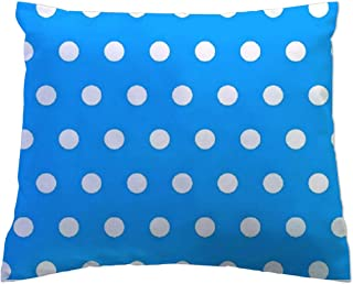 product image for SheetWorld - Toddler Pillowcase Hypoallergenic Made in USA - Polka Dots Turquoise 13 x 17