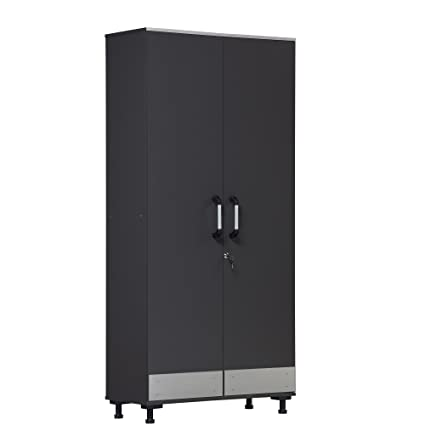 Attirant Ameriwood Home Boss, Tall Storage Cabinet, Gray