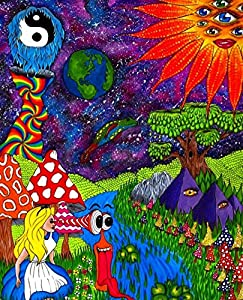 Amazon Com Alice In Wonderland Trippy Outer Space Poster