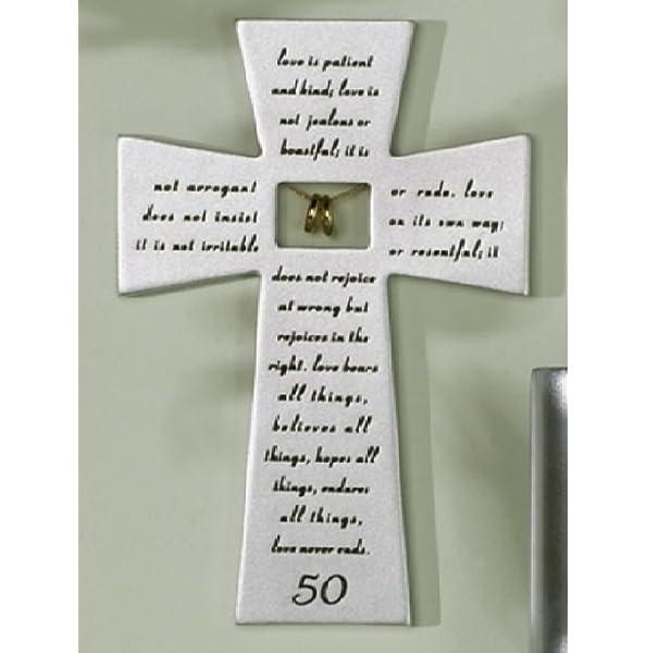 Amazon Com Roman 50th Wedding Anniversary Love Never Fails Wall
