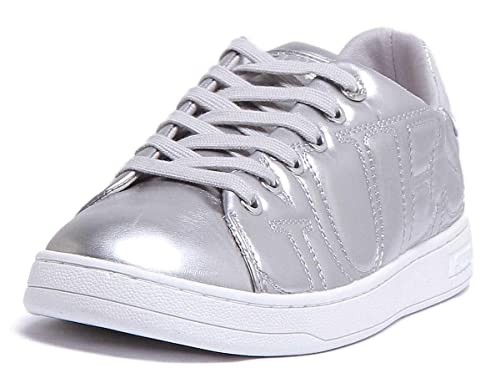guess kids sneakers silver