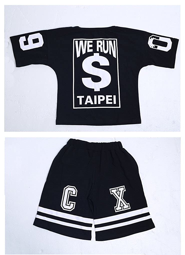 Absolufun Little Boys 2ps Casual Hip-Hop Haren Short Soft Elastic Waisted Outfit